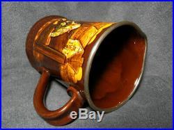 RARE Royal Doulton Kingsware Jester In The Stocks Pitcher / Jug Hallmark Silv