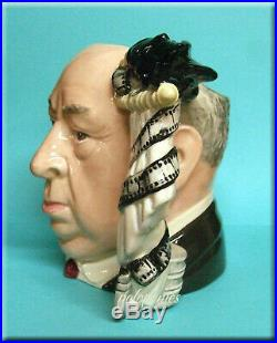 ROYAL DOULTON Alfred Hitchcock D6987 Large Character Jug Retired 1995