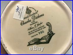 ROYAL DOULTON Charles Dickens Large Character Jug D6939 #752/2500 RARE