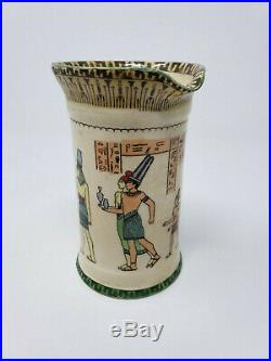 ROYAL DOULTON EGYPTIAN POTTERY SERIES WARE CONCORD JUG 1912 D3419 5 high