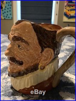 ROYAL DOULTON JUG DRAKE WITHOUT HAT Character Jug / Mug/Toby D6115