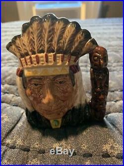 ROYAL DOULTON JUG North American Indian- SPECIAL COLOURWAY SMALL MUG TOBY