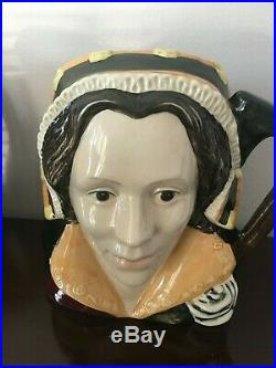 ROYAL DOULTON LARGE TOBY JUGS HENRY VIII & WIVES SET complete