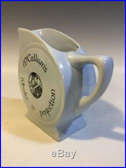 ROYAL DOULTON Lt. Blue McCALLUM'S Whisky is Perfection WHISKEY WATER PITCHER/JUG