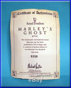 ROYAL DOULTON Marley's Ghost D7142 Large Character Jug Ltd Edition 308/2500