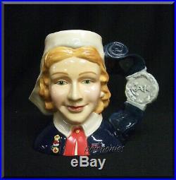 ROYAL DOULTON Nurse Character Jug D7216 International Collectors Club