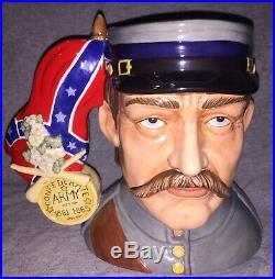 ROYAL DOULTON Rare Civil War CHARACTER JUG D7266 LE350 Mint