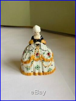 ROYAL DOULTON V. RARE CRINOLINE LADY HN 651 3 TALL MADE IN 1920's EX. CONDITION