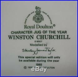 ROYAL DOULTON WINSTON CHURCHILL JUG MUG LARGE RARE