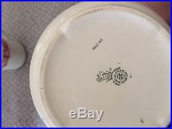 Raby rose royal doulton china teapot and milk jug