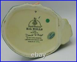 Rare Large Royal Doulton Character Jug H. G. WELLS D7095