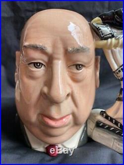 Rare Large Royal Doulton Character Toby Jug Alfred Hitchcock D6987