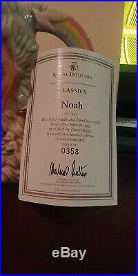 Rare Royal Doulton Character Jug Noah D7165 Large 7 1/2 2001 Ltd 1,000