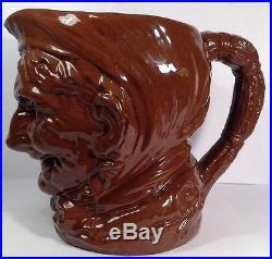 Rare Royal Doulton D5521 Granny Dark Brown Glaze Large Character Jug