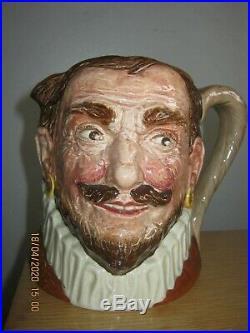 Rare Royal Doulton Hatless Drake Character Jug
