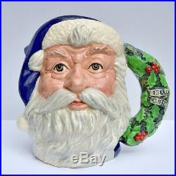 Rare Royal Doulton Prototype Blue Santa Claus Large Character Jug