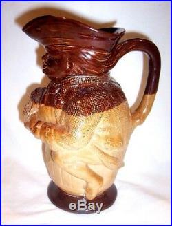 Rare Victoran Royal Doulton Lambeth Toby Jug salt glazed stoneware Toby Fillpot