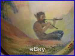 Rare antique Royal Doulton pitcher jug scenic landscape faun demon / devil scene