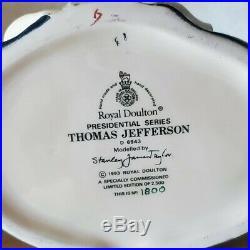 Retired Royal Doulton Jug Thomas Jefferson Ltd Ed w Box D6943