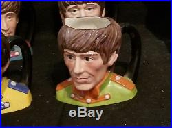 Royal Doulton 1982 The Beatles Four Toby Character Jug Mug Set