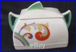 Royal Doulton Art Deco Syren Pattern Tea Pot, Milk Jug & Covered Sucrier, 1931