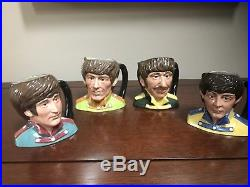 Royal Doulton BEATLES SGT PEPPER TOBY JUGS Set of 4 1984 Retired