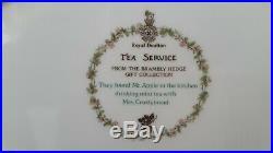 Royal Doulton Brambly Hedge TEA SERVICE OVAL TRAY, MILK JUG & SUGAR BOWL SET