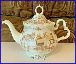 Royal Doulton Brambly Hedge Tea Pot Milk Jug Sugar Bowl Tea Service Full Size