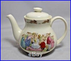 Royal Doulton Bunnykins Teapot, sugar and Milk Jug Mint Condition