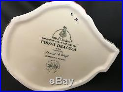 Royal Doulton CHARACTER JUG of the YEAR 1997 COUNT DRACULA #D7053-LARGE/COA