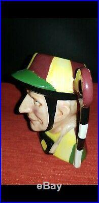 Royal Doulton Character Jug Extremely Rare Prototype SMALL SIZE JOCKEY D6629