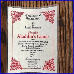 Royal Doulton Character Jug-Flambe-Aladdin's Genie #254/1500 -RARE