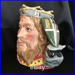 Royal Doulton Character Jug-RARE King Arthur #D7055 COA 627/1500-MINT