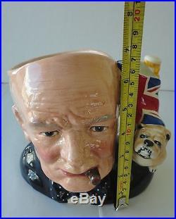 Royal Doulton Character Jug of the Year 1982 Winston Churchill D6907
