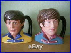 Royal Doulton Character Jugs The Beatles Full Set Of Four Stunning Set
