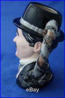 Royal Doulton Charlie Chaplin D7145 Style Two Ltd Ed Character Jug Box/cert