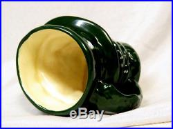 Royal Doulton Colour Sample Small Toby Jug Green BEEFEATER UNUSUAL COLORWAY