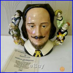 Royal Doulton D6933 WILLIAM SHAKESPEARE Large Character Jug Ltd Edition of 2500