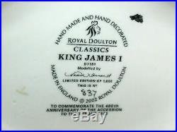 Royal Doulton D7181 King James I Character Jug Mint #837 Of Only 1000 Made