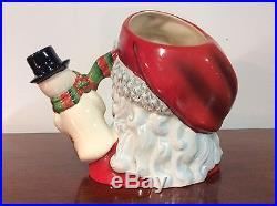 Royal Doulton D7238 Santa with Snowman Character Jug