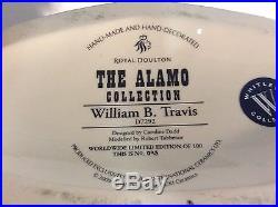 Royal Doulton D7292 William Travis Large Character Jug Alamo Collection
