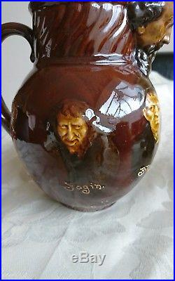Royal Doulton Dickens Character Dewars Kingsware Whisky Water Jug Antique