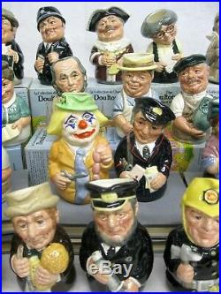 Royal Doulton Doultonville Collection of Character Toby Jugs Complete Set of 25