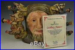 Royal Doulton GEOFFREY CHAUCER Char Jug withCOA D7029 1996 / LE 324/1500 Excellent
