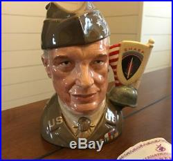 Royal Doulton General Eisenhower Toby Jug from the Great Generals Collection