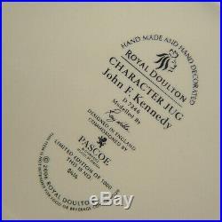 Royal Doulton JOHN F KENNEDY Char Jug D7236 / Noble c. 2006 Aged Stock BRAND NEW