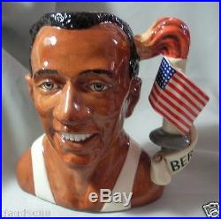 Royal Doulton Jesse Owens -character Jug Of The Year 1996 D7019 Mint & Box