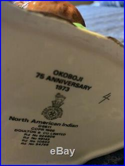 Royal Doulton Jug Okoboji North American Indian Character Jug D6611