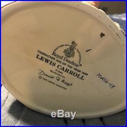 Royal Doulton Jug -RARE Lewis Carroll D7096 Character Jug of the Year