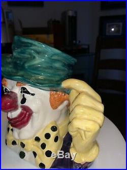 Royal Doulton Jug The Circus Clown Prototype Rare Colourway